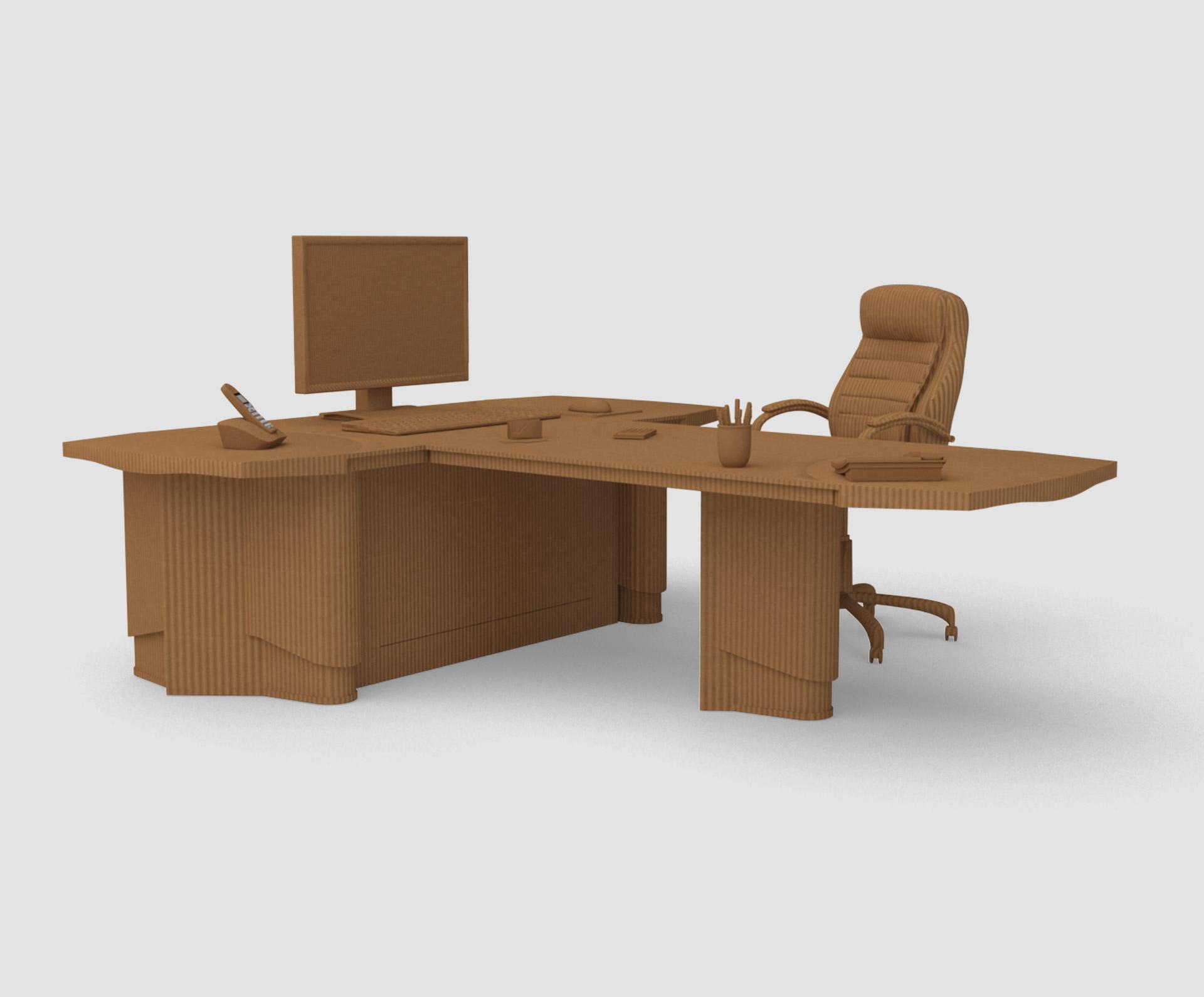 Oficina para soluciones en cartón